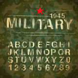 Military Vintage Alphabet Stock Photo