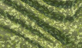 Military war background camouflage khaki fabric texture. 3D illustration. stock image