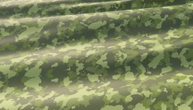 Military war background camouflage khaki pattern. 3D render. Waved highly detailed fabric texture royalty free illustration