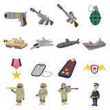 Military and war cartoon icons Royalty Free Stock Image