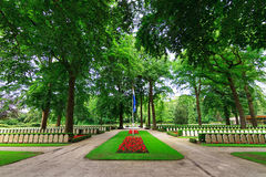 Military War Cemetery Grebbeberg Royalty Free Stock Images