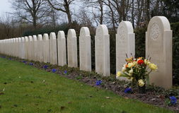 Military war cemetery Royalty Free Stock Photo