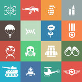 Military and war icons Royalty Free Stock Photography