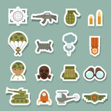 Military and war icons Stock Images