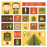 Military and war icons set. Army infographic Royalty Free Stock Photos