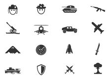 Military and war icons Royalty Free Stock Image