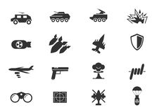 Military and war icons Royalty Free Stock Photo