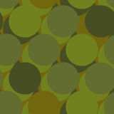 Military war seamless pattern. Army abstract circle, round textu. Re. Protective ornament for soldiers. Green soldiery background. khaki for hunters and troops Stock Photo