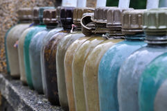 Military Water Bottles, Vietnam Royalty Free Stock Photo