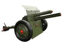 Military Weapon (Cannon). Old cannon used by Indonesian Military Soldier. The cannon is unactive weapon located as a statue in military esplanade stock illustration