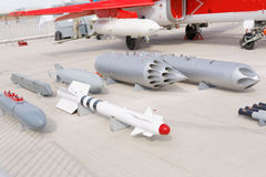 Military weapon, guns and canons. Royalty Free Stock Photography
