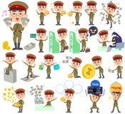 Military wear japan style man money Stock Photography