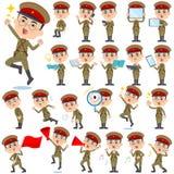 Military wear japan style man 2 Stock Photos