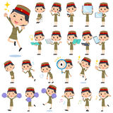 Military wear japan style woman 2 Stock Photography
