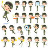 Military wear woman 2 Royalty Free Stock Photography