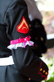 Military Wedding Garter Stock Photography