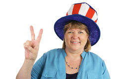 Military Wife Peace Sign Royalty Free Stock Photography