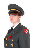 Military woman. Royalty Free Stock Image