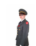 Military woman. Royalty Free Stock Images