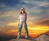 Military woman Royalty Free Stock Images