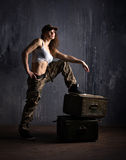 Military woman Stock Photography