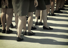 Military women stock photography