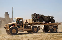 Military WW2 flatbed truck Stock Photography
