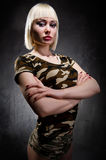 Military young woman Royalty Free Stock Photography