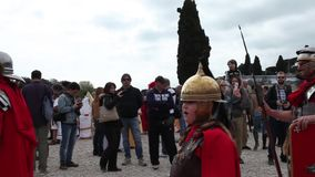 Milites Triarii stock video footage
