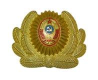 Militia cap-badge. Soviet union time militiaman cap-badge (isolated Stock Images