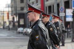 Militia cordon Royalty Free Stock Images