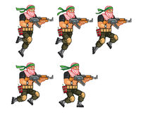 Militia Jumping Sprite Royalty Free Stock Photos