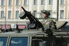 Militär-GAZ-2330 Tigr - russisches Vielzweckgepanzertes fahrzeug Stockbild