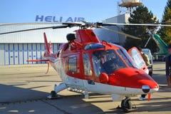 Militär helikopterutställning Arkivfoto
