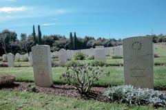 Militär kyrkogård Arkivbild