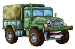 Militär lastbil för tecknad film Arkivbild