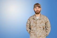 Militär man för USA-armé Arkivbilder