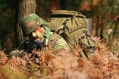 militär utbildning för strid Arkivfoton