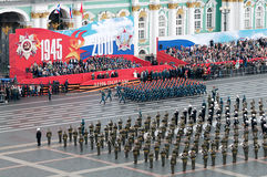 militären ståtar seger Royaltyfri Fotografi