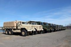 Militärfahrzeuge Stockfotos