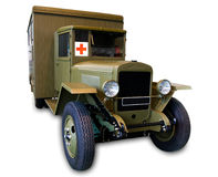 Militärkrankenhaus und Sanitätswagen Stockfoto