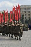 Militärparade des Sieg-Tages Stockfotos