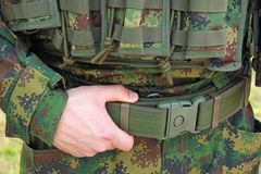 Militäruniform Lizenzfreie Stockfotografie