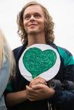 Miljö- aktivist Arkivfoton