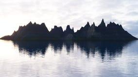 miljö Berg och havet Royaltyfria Bilder