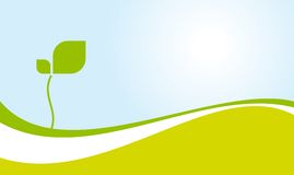 miljö grön liggandevektor Royaltyfri Fotografi