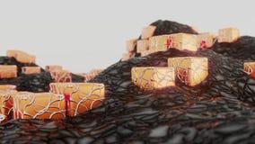 miljö Illustration av lava Stock Illustrationer