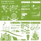 Miljö infographic beståndsdelar för ekologi Miljö- risker, Royaltyfri Bild
