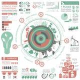 Miljö infographic beståndsdelar för ekologi Miljö- risker, Arkivfoto