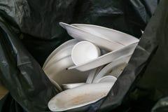 Miljö- kyliga kasserade polystyrenplattor och koppar i G Royaltyfri Bild